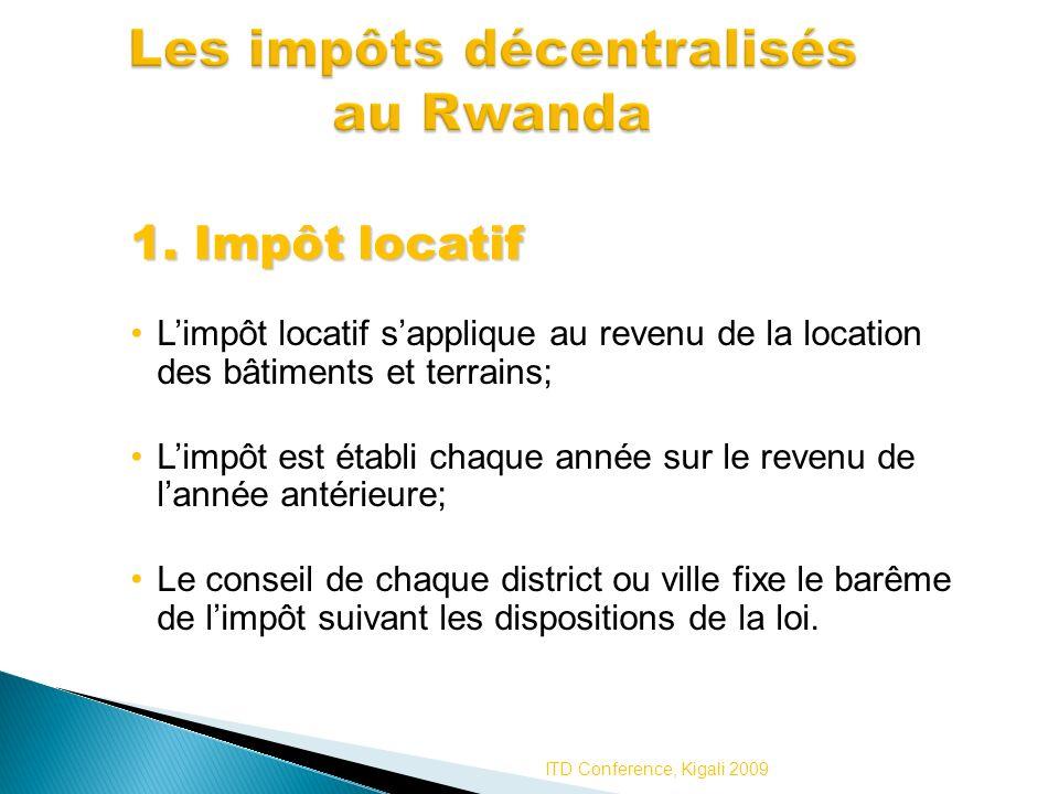 Les impôts décentralisés au Rwanda