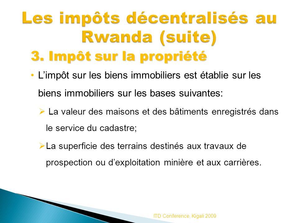 Les impôts décentralisés au Rwanda (suite)