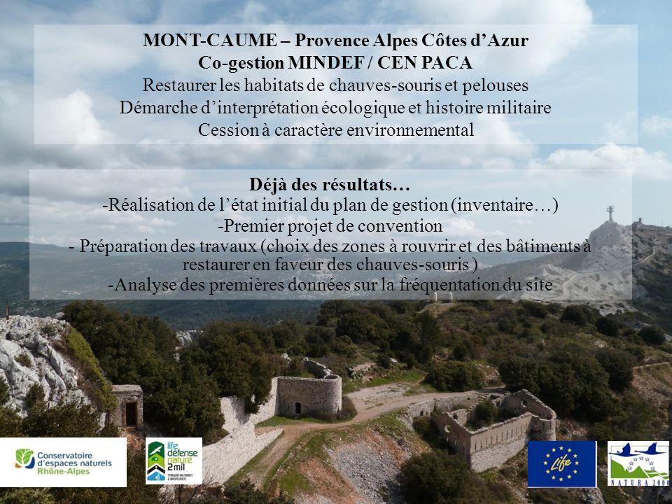 MONT-CAUME – Provence Alpes Côtes d'Azur Co-gestion MINDEF / CEN PACA