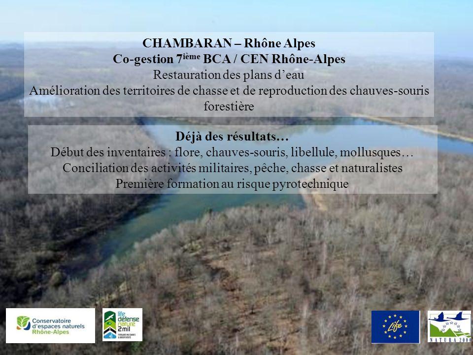 CHAMBARAN – Rhône Alpes Co-gestion 7ième BCA / CEN Rhône-Alpes