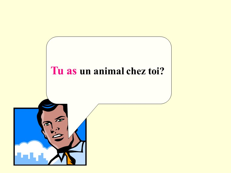 Tu as un animal chez toi