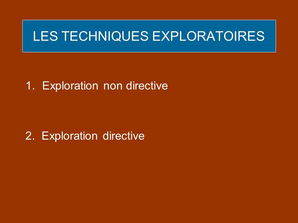 LES TECHNIQUES EXPLORATOIRES