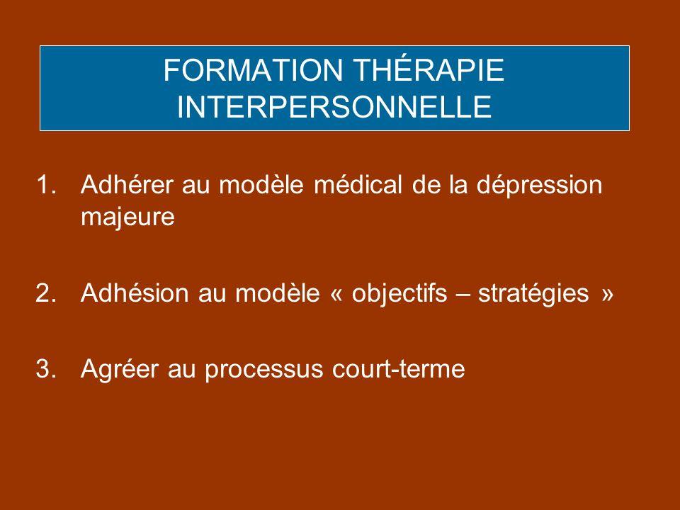 FORMATION THÉRAPIE INTERPERSONNELLE