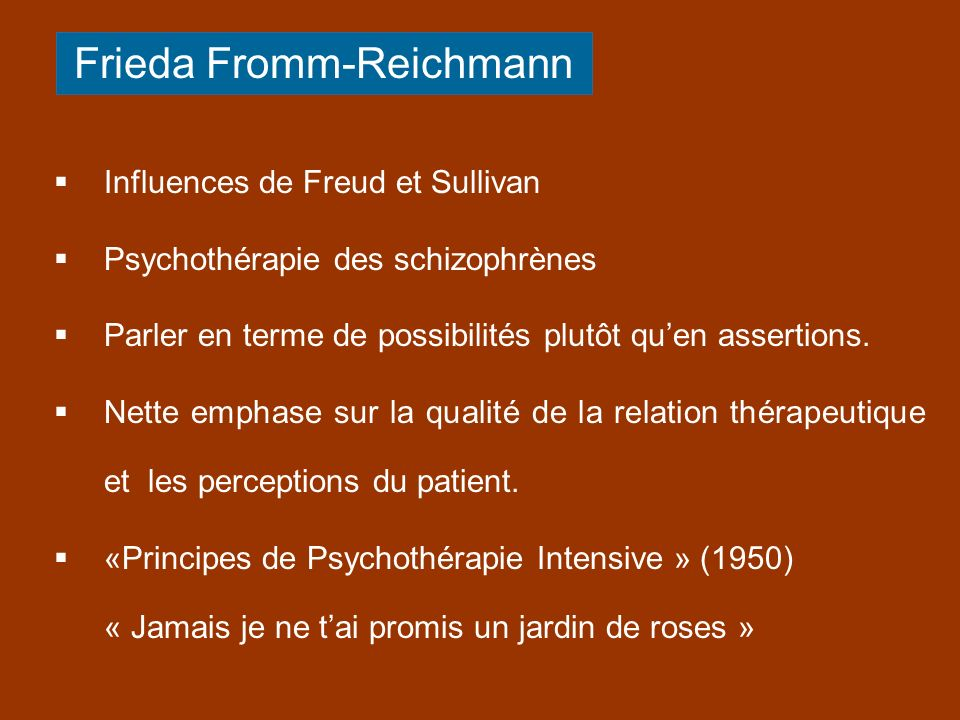 Frieda Fromm-Reichmann