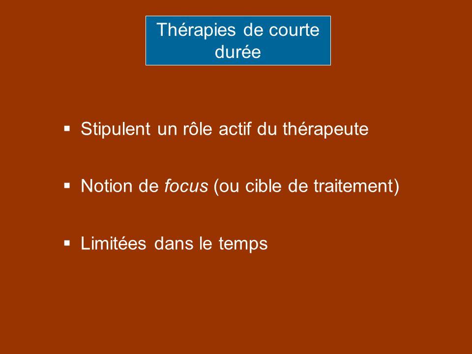Thérapies de courte durée