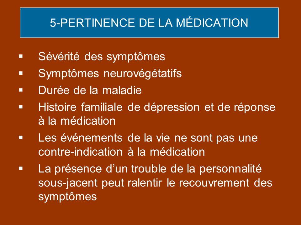 5-PERTINENCE DE LA MÉDICATION