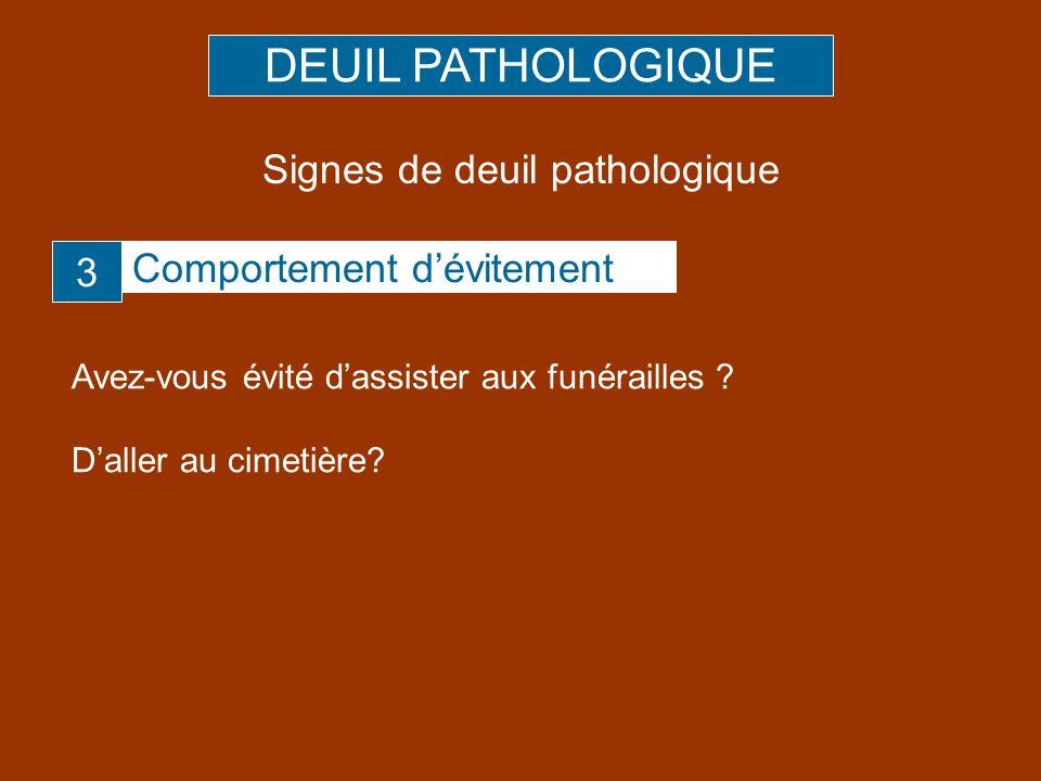 Signes de deuil pathologique