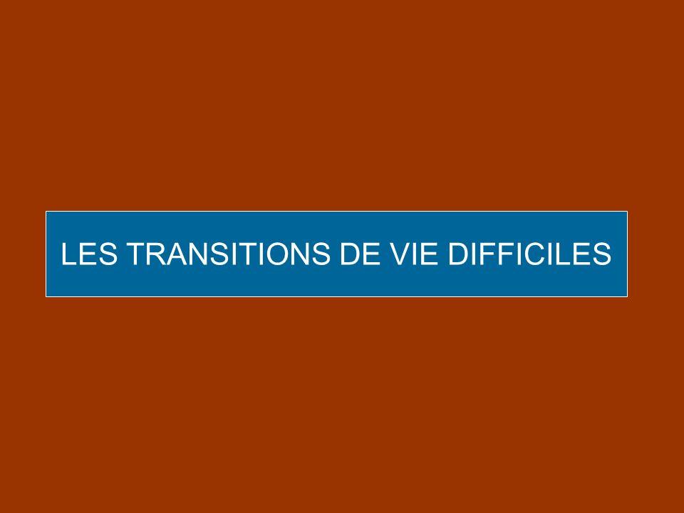 LES TRANSITIONS DE VIE DIFFICILES