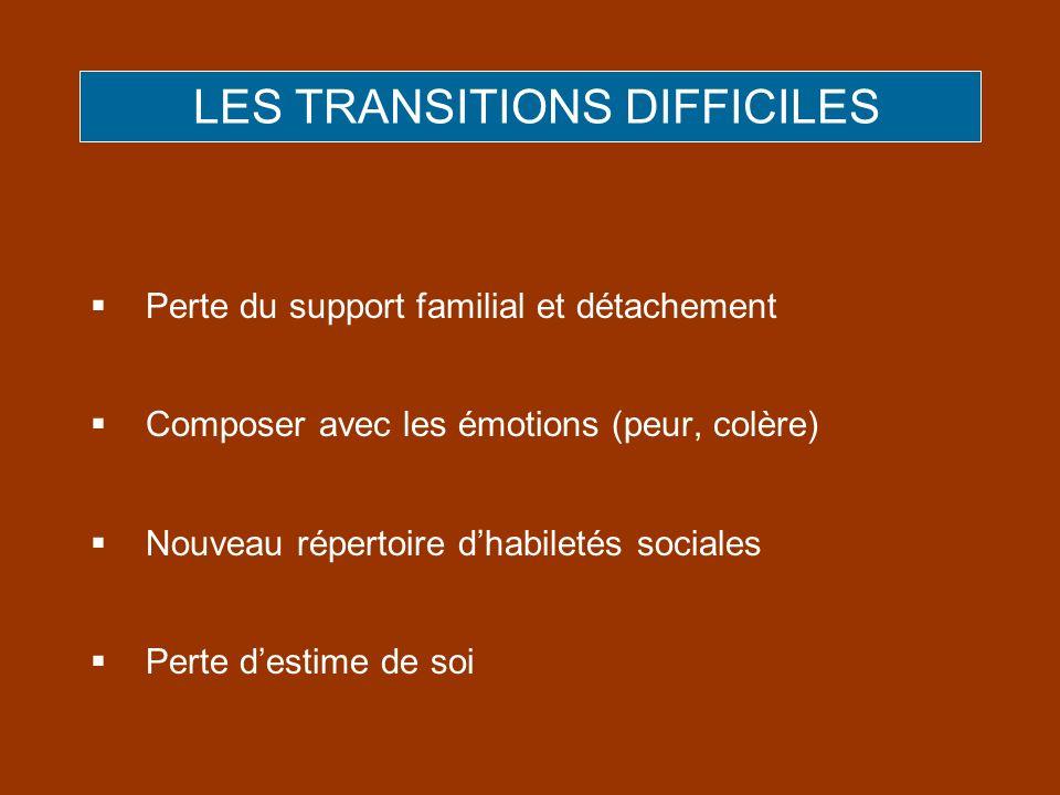 LES TRANSITIONS DIFFICILES