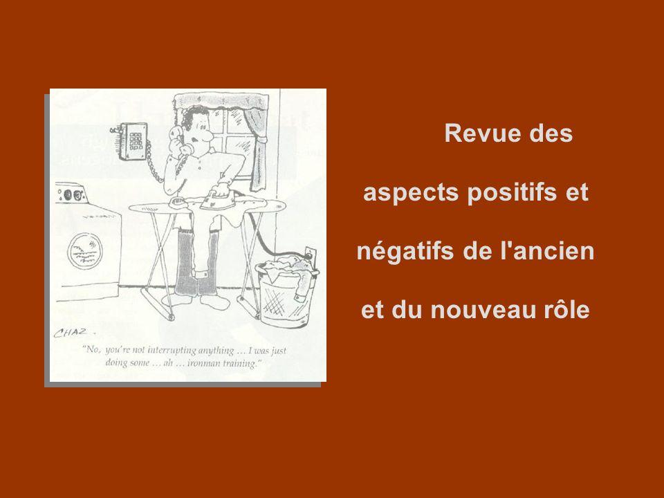 Revue des aspects positifs et négatifs de l ancien et du nouveau rôle