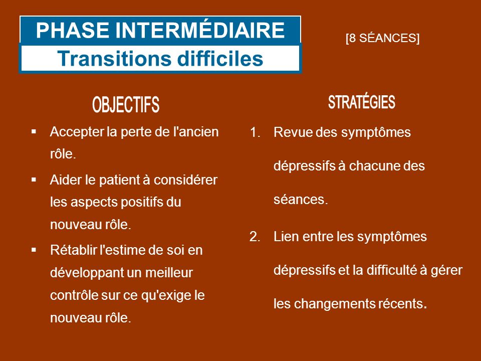 Transitions difficiles