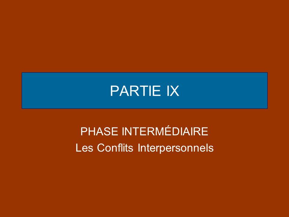 PHASE INTERMÉDIAIRE Les Conflits Interpersonnels