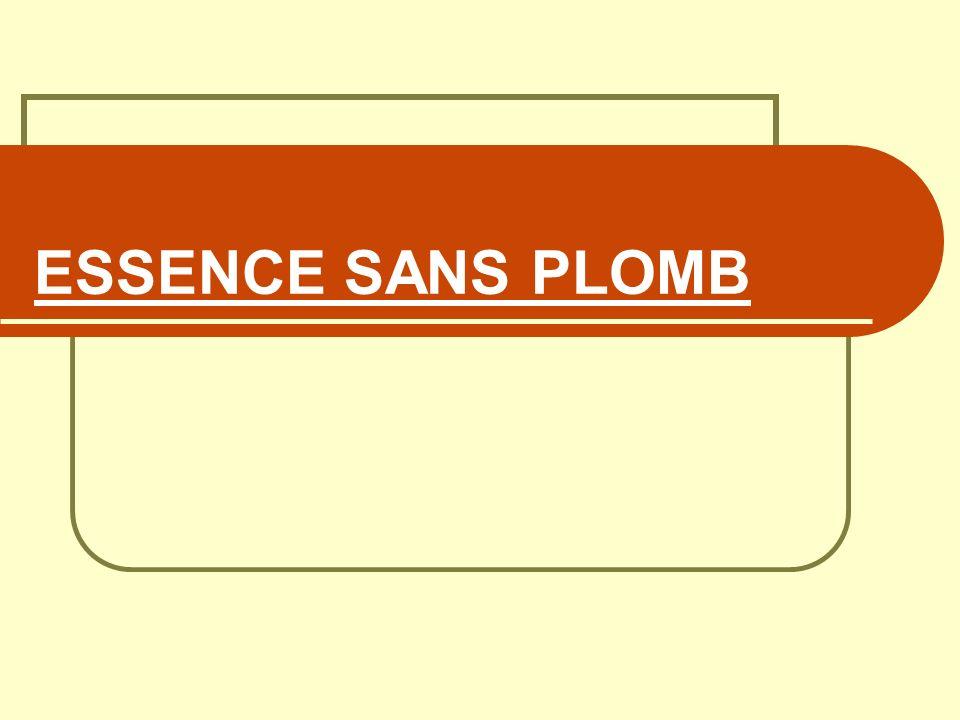 ESSENCE SANS PLOMB