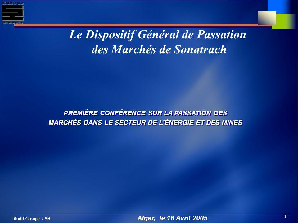Le Dispositif Général de Passation des Marchés de Sonatrach