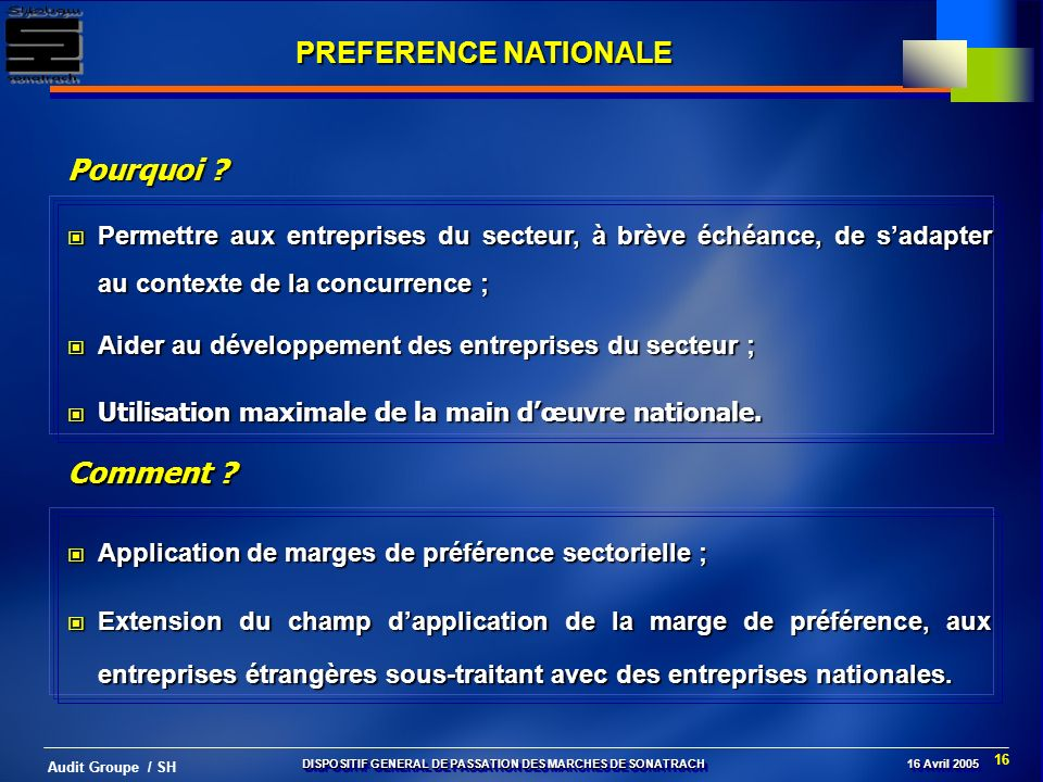 PREFERENCE NATIONALE Pourquoi Comment