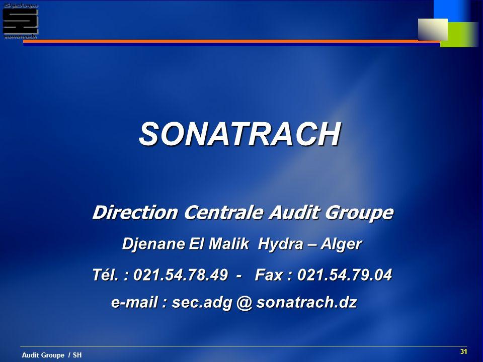 SONATRACH Direction Centrale Audit Groupe