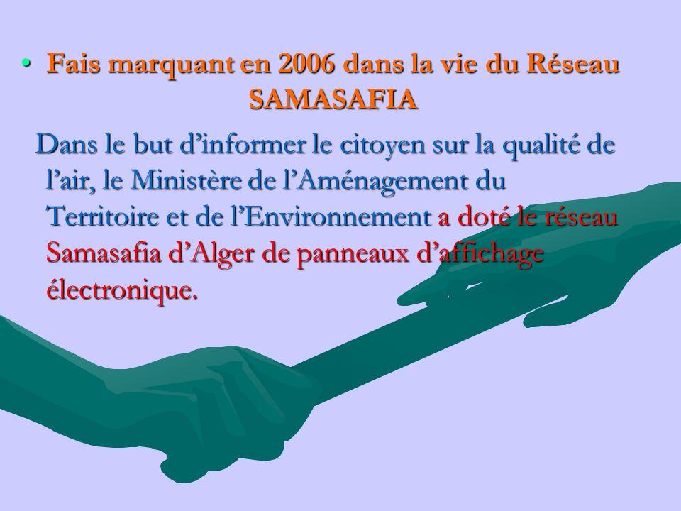 Fais marquant en 2006 dans la vie du Réseau SAMASAFIA
