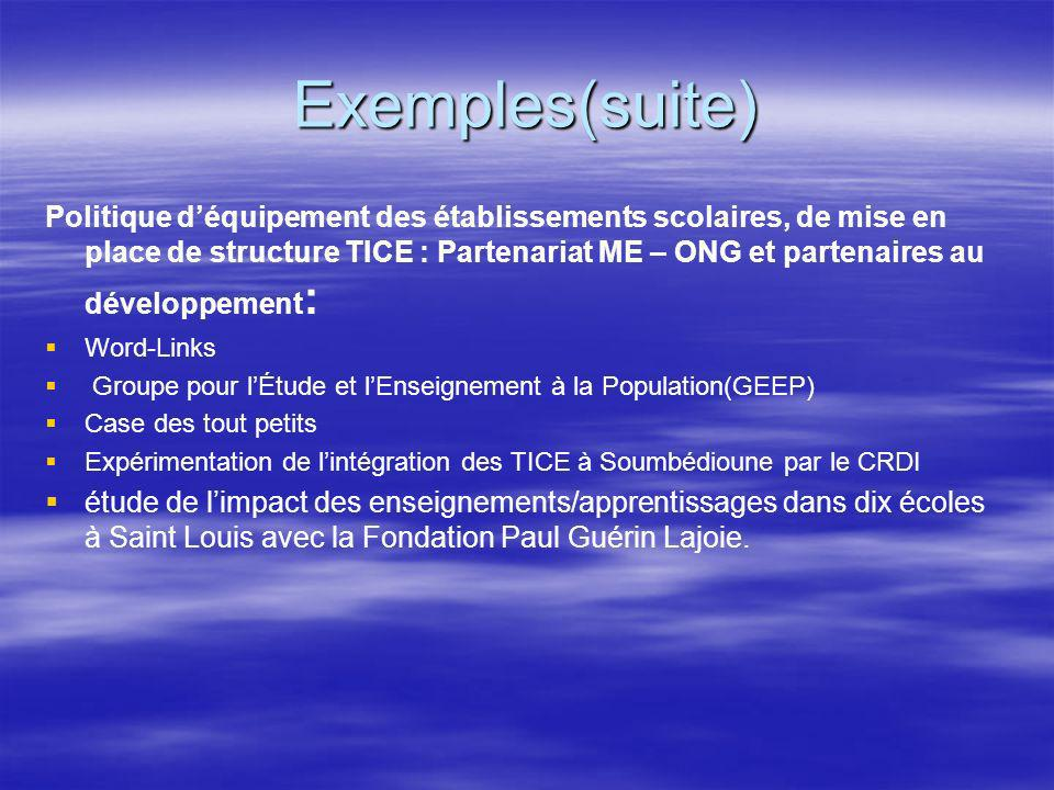 Exemples(suite)