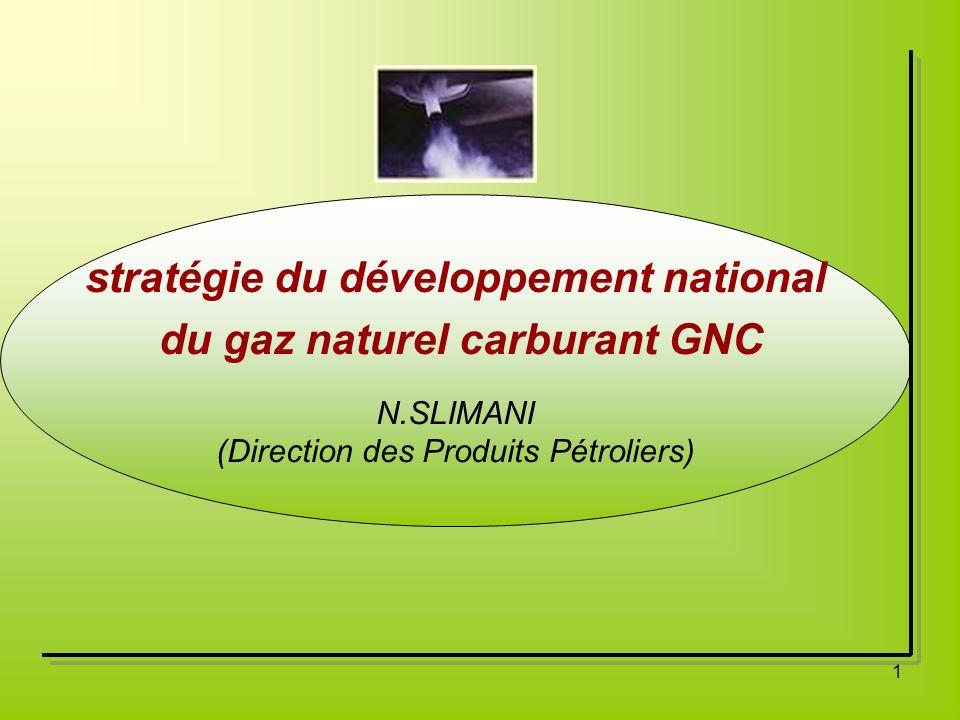 stratégie du développement national du gaz naturel carburant GNC
