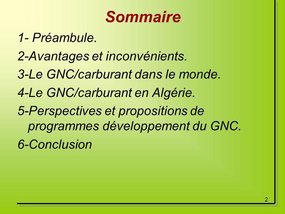 Sommaire 1- Préambule. 2-Avantages et inconvénients.