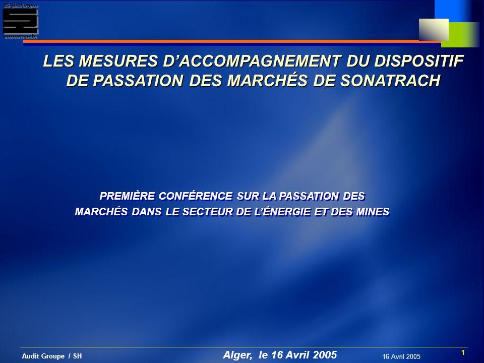 LES MESURES D'ACCOMPAGNEMENT DU DISPOSITIF DE PASSATION DES MARCHÉS DE SONATRACH