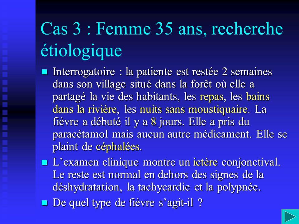Cas 3 : Femme 35 ans, recherche étiologique