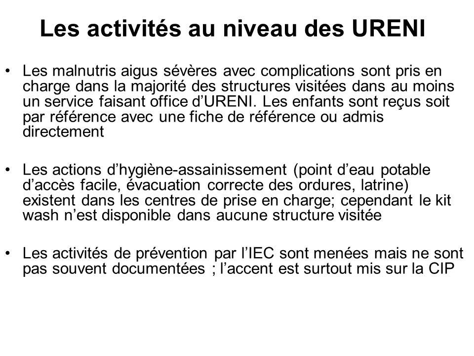 Les activités au niveau des URENI