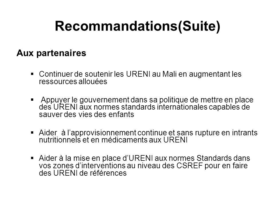 Recommandations(Suite)