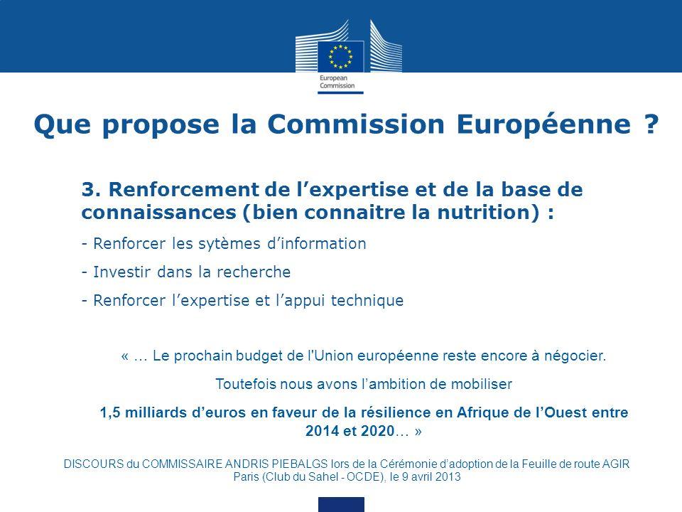 Que propose la Commission Européenne