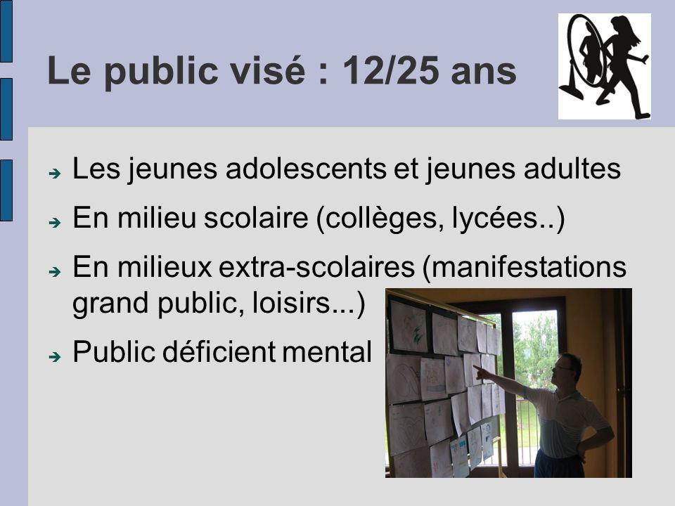 Le public visé : 12/25 ans Les jeunes adolescents et jeunes adultes