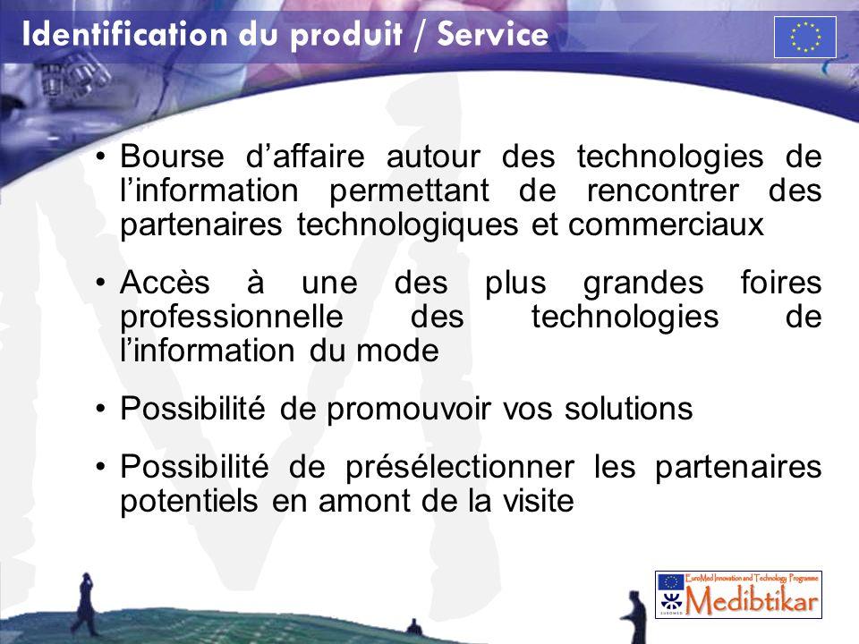 Identification du produit / Service