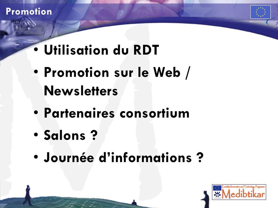 Promotion sur le Web / Newsletters Partenaires consortium Salons