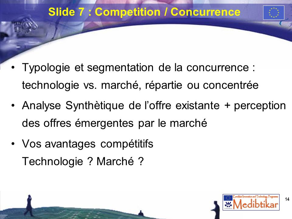 Slide 7 : Competition / Concurrence