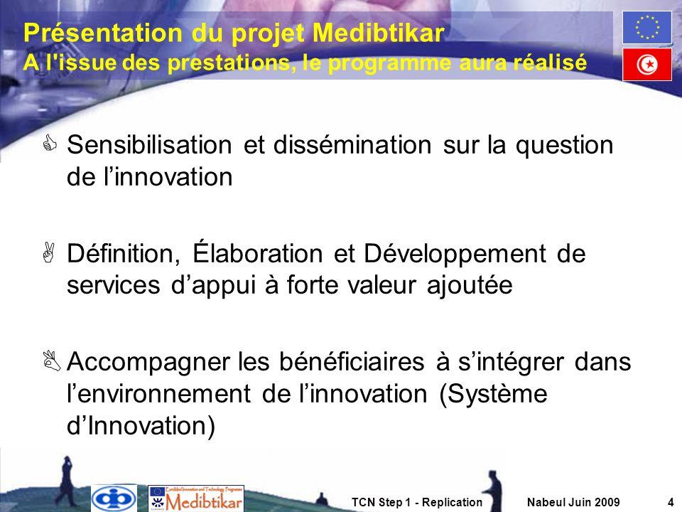Sensibilisation et dissémination sur la question de l'innovation