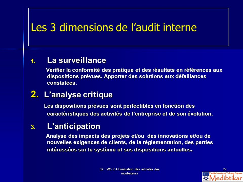 Les 3 dimensions de l'audit interne