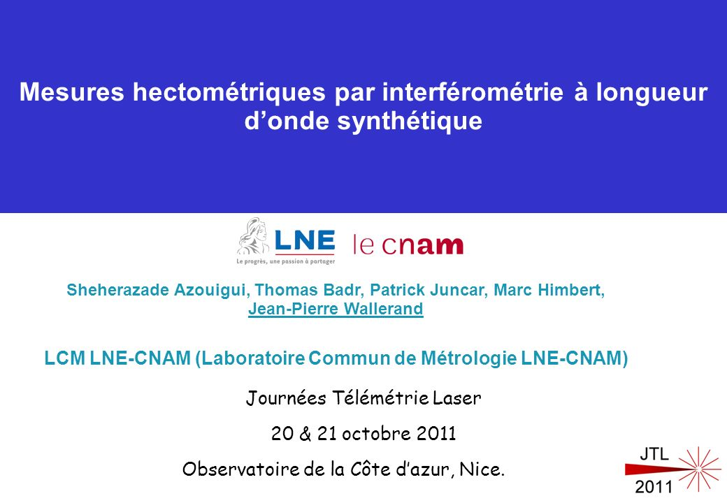 LCM LNE-CNAM (Laboratoire Commun de Métrologie LNE-CNAM)