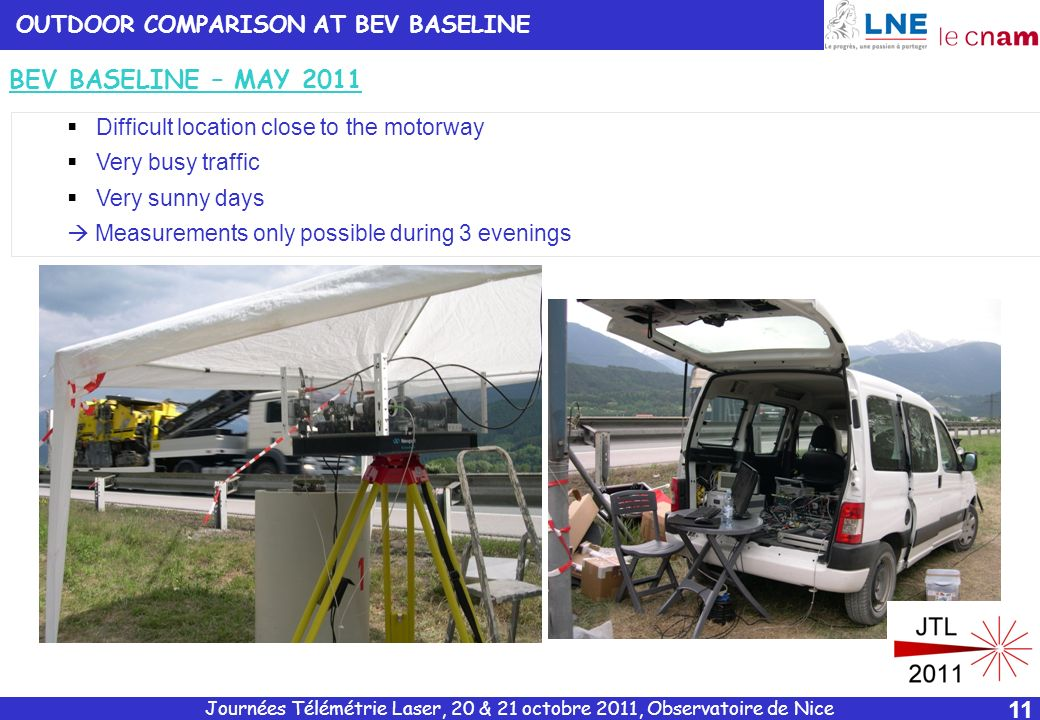 BEV BASELINE – MAY 2011 OUTDOOR COMPARISON AT BEV BASELINE