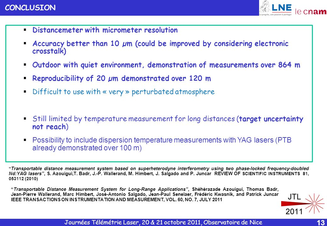 Distancemeter with micrometer resolution