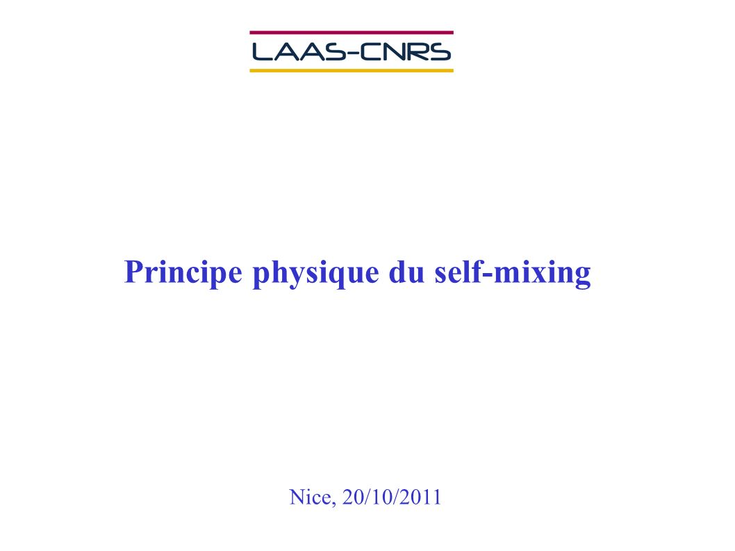 Principe physique du self-mixing