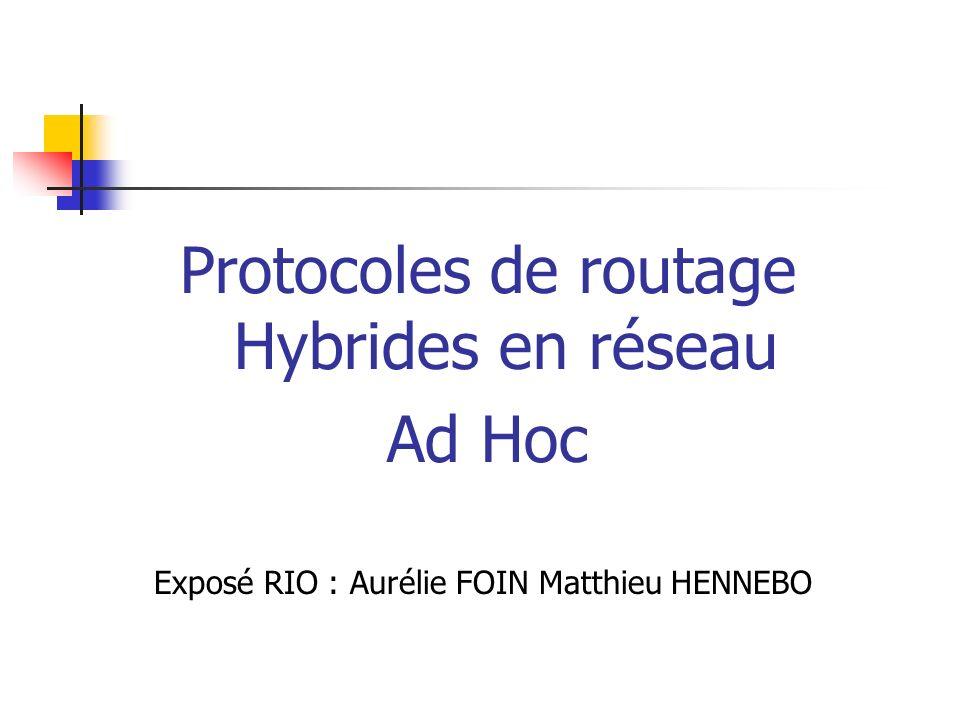 Protocoles de routage Hybrides en réseau