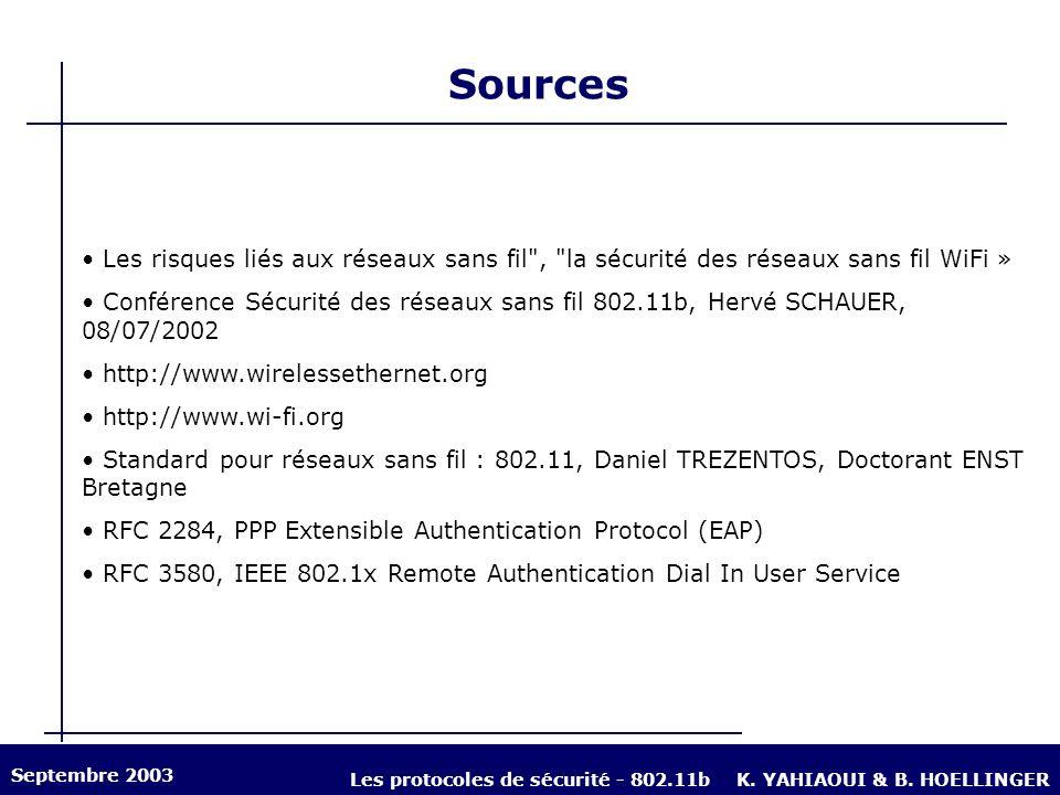 Les protocoles de sécurité - 802.11b
