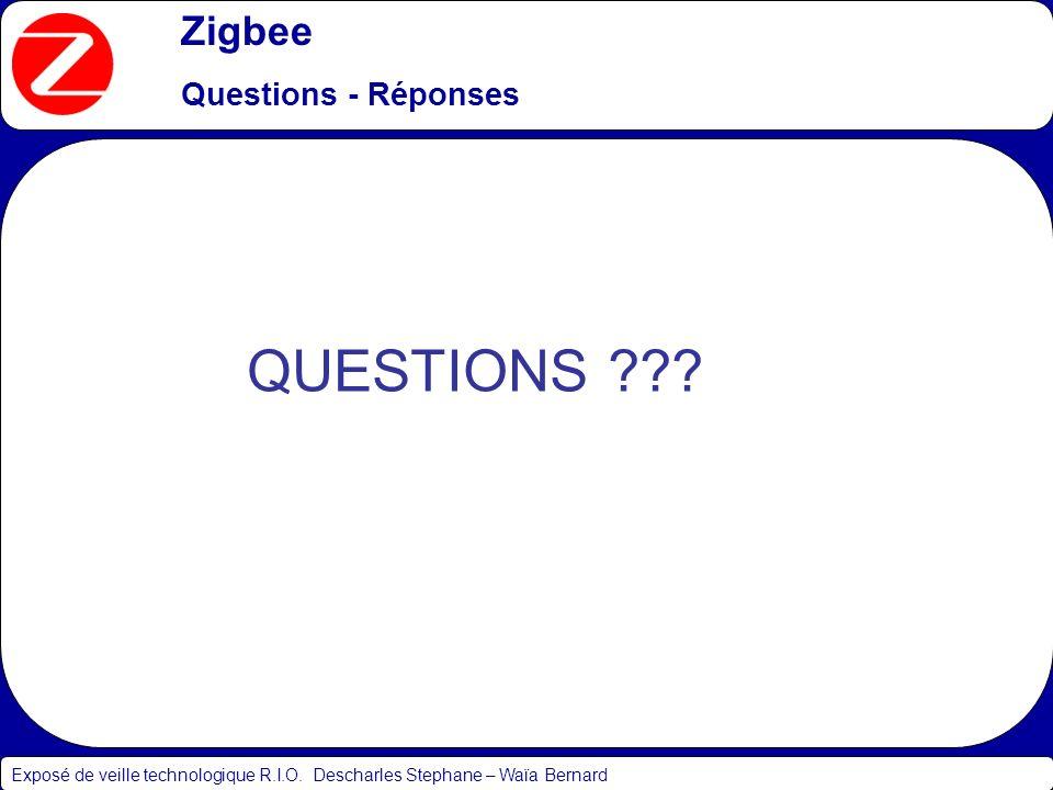 QUESTIONS Zigbee Questions - Réponses
