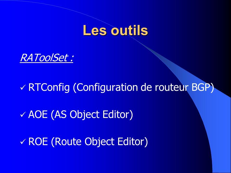 Les outils RAToolSet : RTConfig (Configuration de routeur BGP)