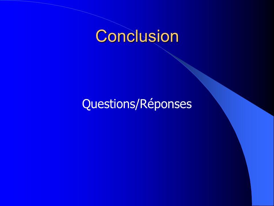 Conclusion Questions/Réponses