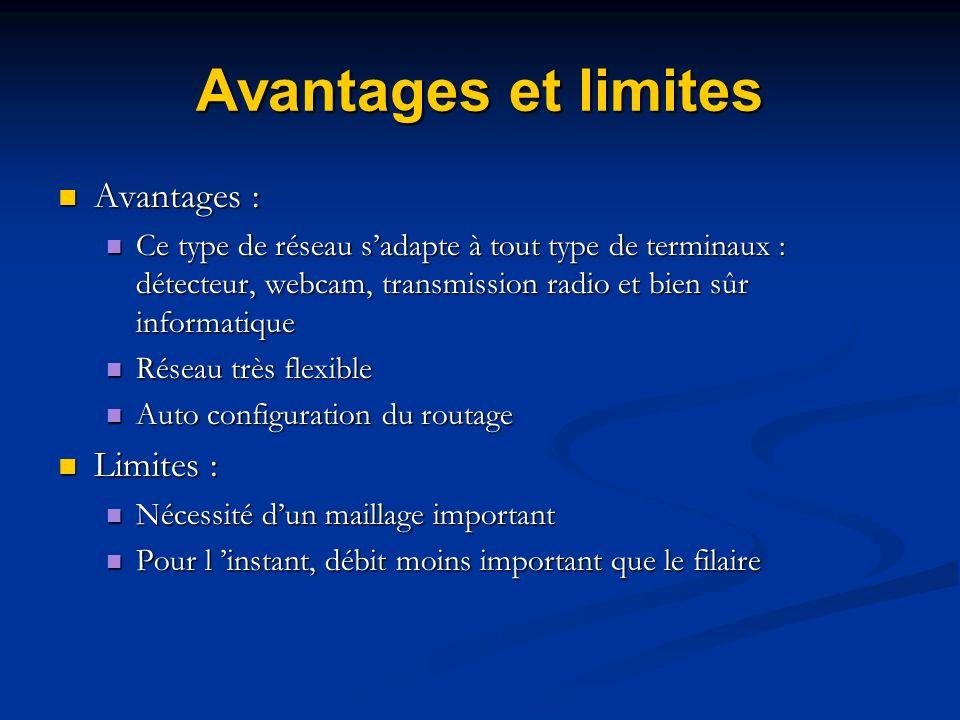 Avantages et limites Avantages : Limites :