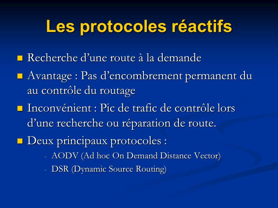 Les protocoles réactifs