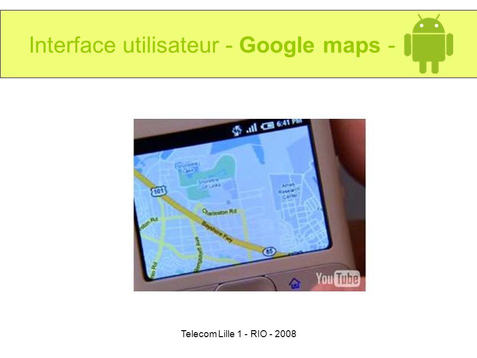 Interface utilisateur - Google maps -