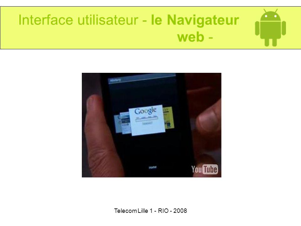 Interface utilisateur - le Navigateur web -