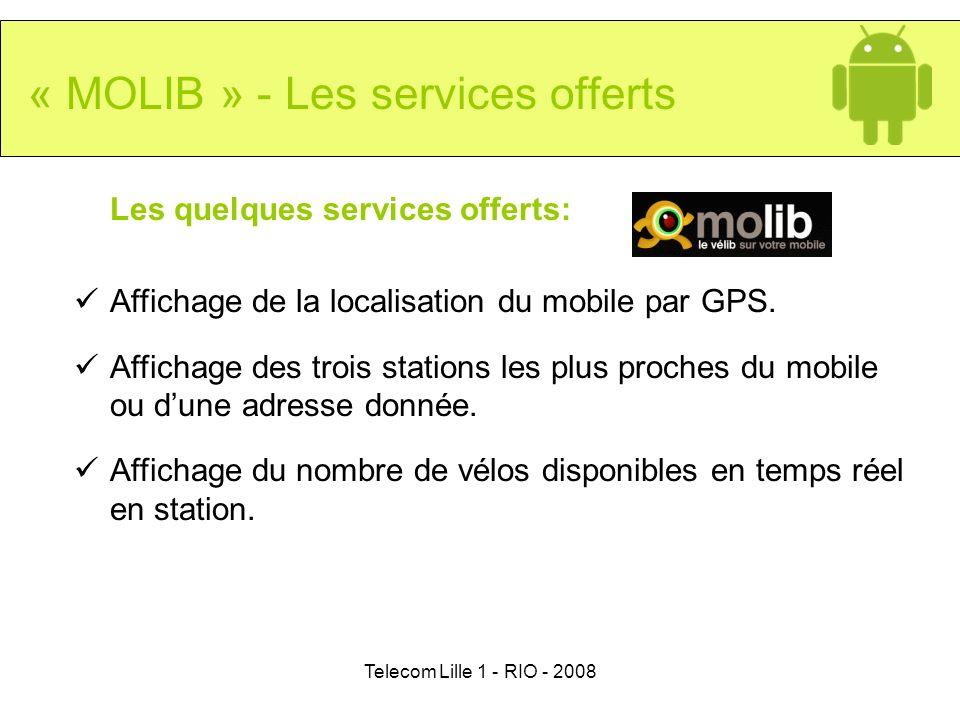 « MOLIB » - Les services offerts