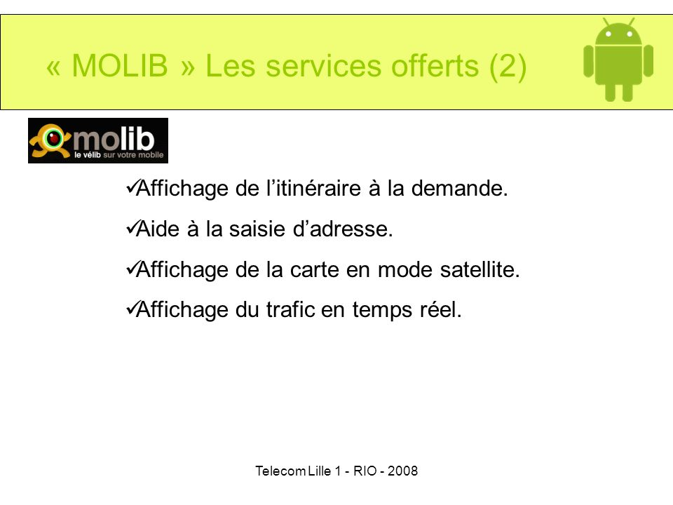« MOLIB » Les services offerts (2)